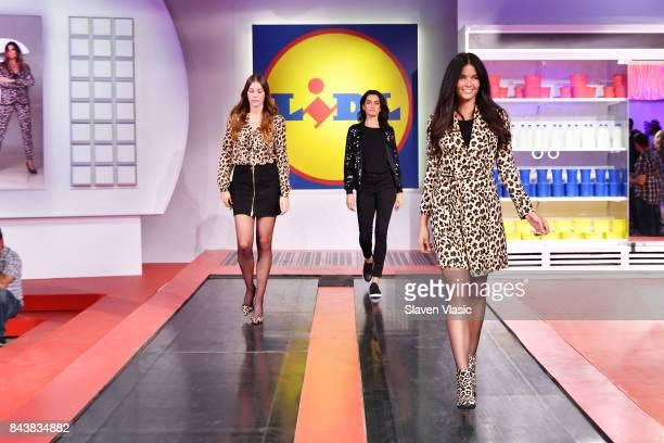Models walk the conveyor belt runway during the Esmara By Heidi Klum Lidl Fashion Presentation at New York Fashion Week #Letswow at ArtBeam on...