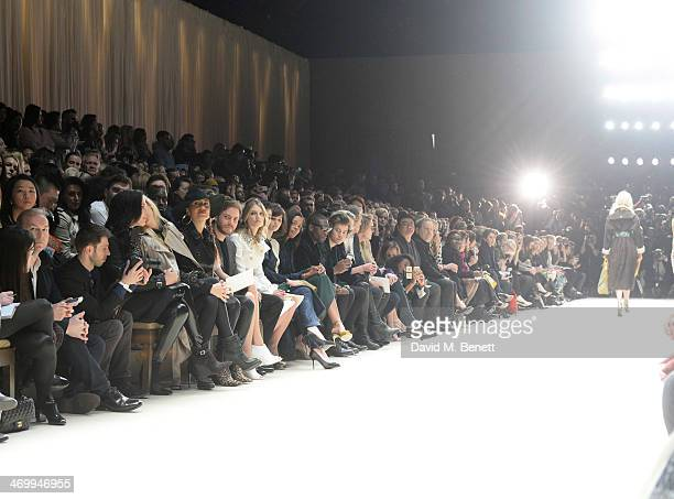 Models walk the runway as Donna Grantis Hannah Welton Ida Nielsen Felicitas Rombold Daniel Bruhl Melanie Laurent Guey LunMei Felicity Jones Naomie...
