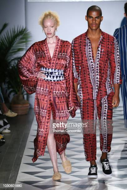Models walk the runway as STYLE360 hosts Studio 189 by Rosario Dawson and Abrima Erwiah on September 10 2018 in New York City