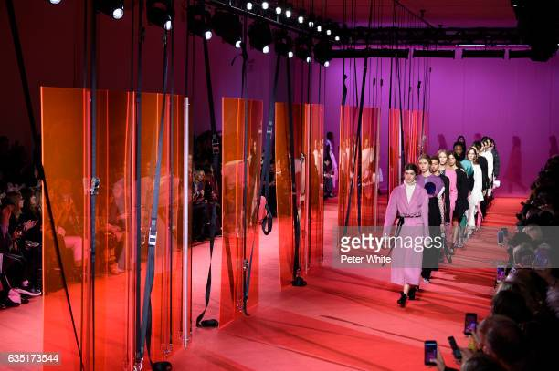 Models walk the runway at 31 Phillip Lim show during New York Fashion Week at Spring Studios on February 13 2017 in New York City