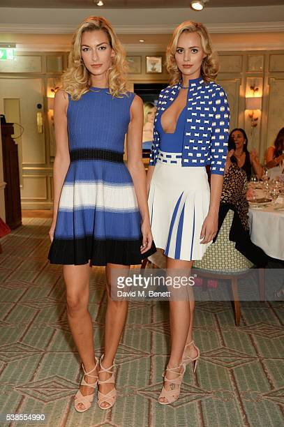 Models walk the runway at a lunch hosted by Tamara Beckwith and Alessandra Vicedomini to celebrate luxury fashion brand Vicedomini at Fortnum Mason...
