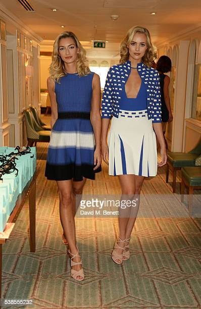 Models walk the runway at a lunch hosted by Tamara Beckwith and Alessandra Vicedomini to celebrate luxury fashion brand Vicedomini at Fortnum & Mason...