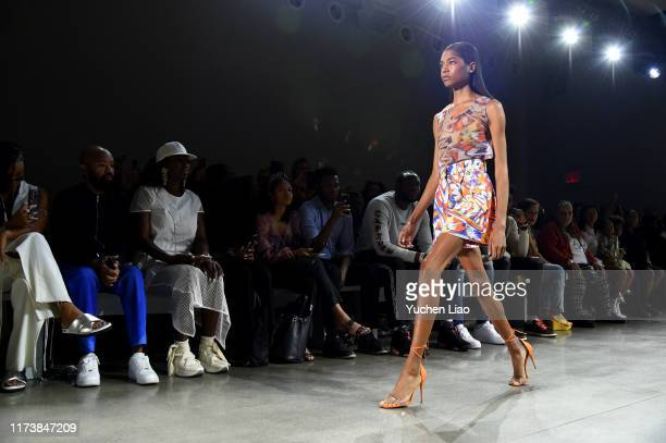 Models walk the runway at Aliette fashion show during New York Fashion Week The Shows at Gallery II at Spring Studios on September 11 2019 in New...