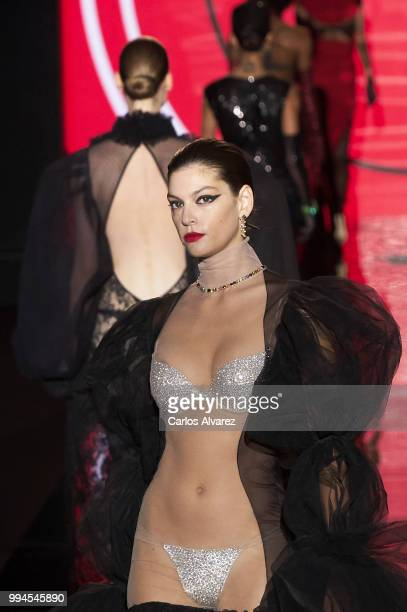 Models walk the runway at Andres Sarda show at Mercedes Benz Fashion Week Madrid Spring/ Summer 2019 on July 9 2018 in Madrid Spain