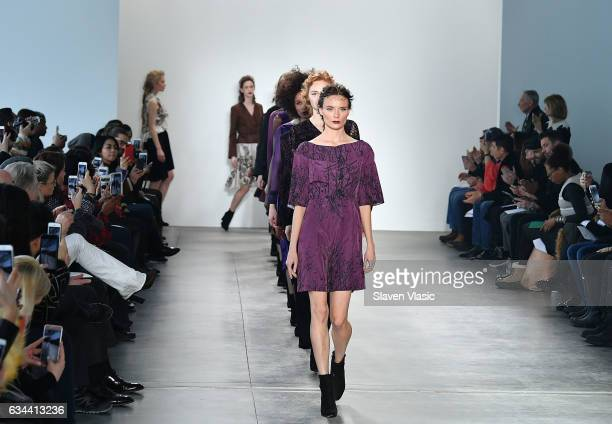 Models walk the runway at Ane Amour fashion show during February 2017 New York Fashion Week at Pier 59 on February 9 2017 in New York City