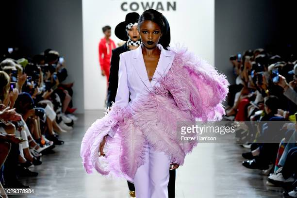 Models walk the runway at Christian Cowan show during New York Fashion Week The Shows at Gallery II at Spring Studios on September 8 2018 in New York...