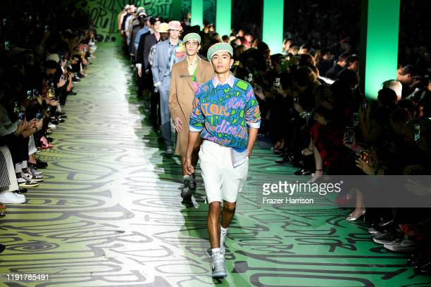 Models walk the runway at Dior Men's PreFall 2020 Runway Show on December 03 2019 in Miami Florida