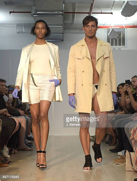 Models walk the runway at Edwing D'Angelo runway show during New York Fashion Week Men's S/S 2017 on July 13 2016 in New York City