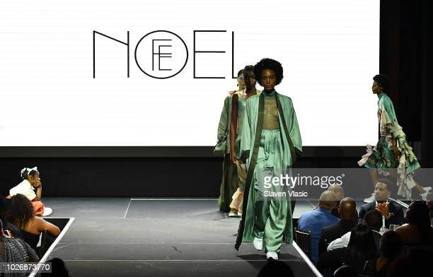 Models walk the runway at Fe Noel fashion show during New York Fahion Week at Capitale on September 4 2018 in New York City