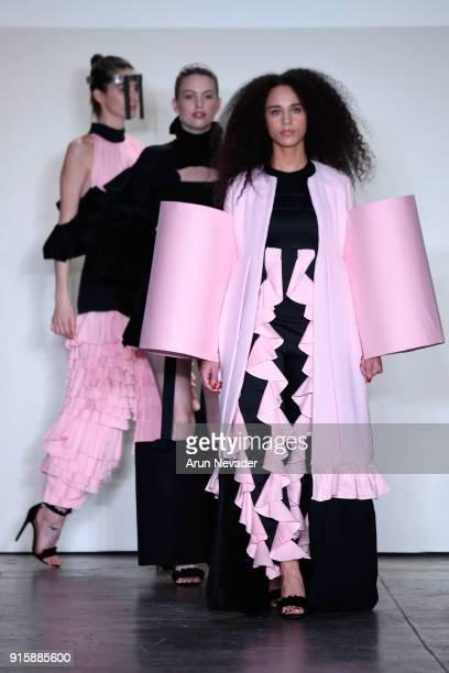 Models walk the runway at Global Fashion Collective Presents Kim Tiziana Rottmuller At New York Fashion Week Fall 2018 at Industria Studios on...