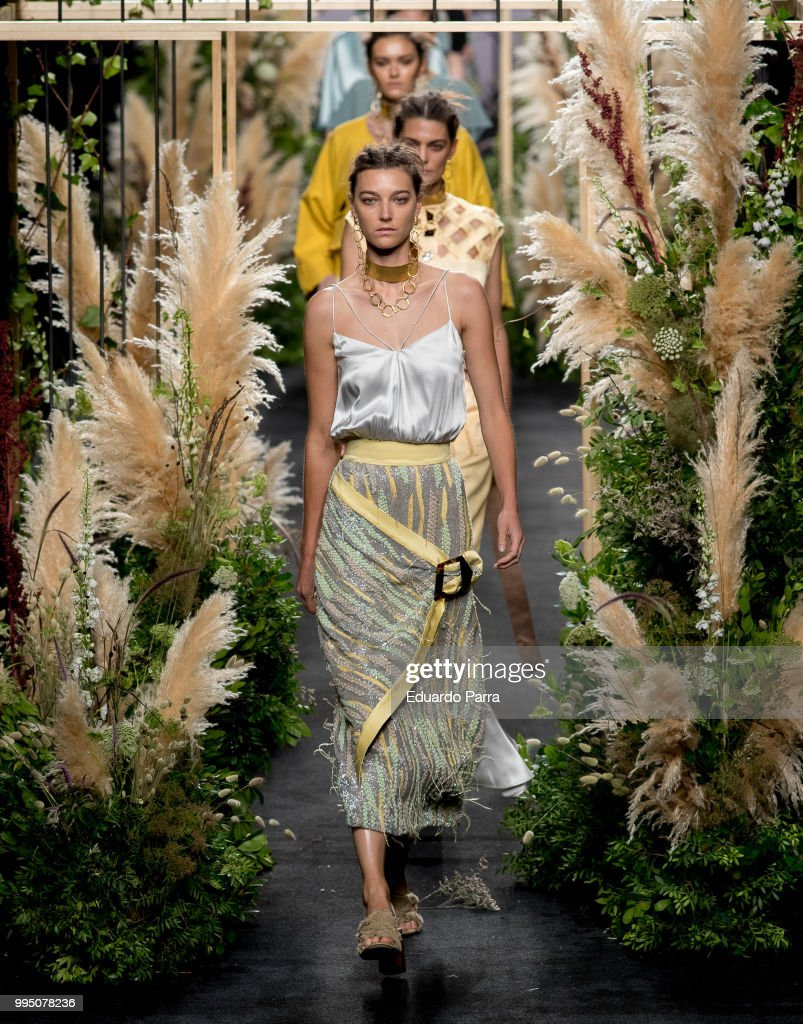Models walk the runway at iNunez show at Mercedes Benz Fashion Week Madrid Spring/ Summer 2019 on July 10, 2018 in Madrid, Spain.