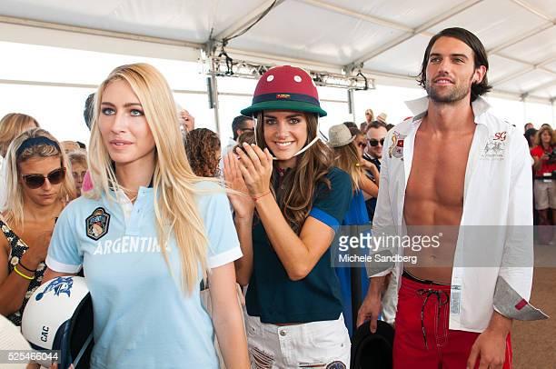 Models walk the runway at La Martina Miami Beach Fashon Show At Polo World Cup X