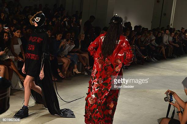 Models walk the runway at Namilia fashion show during New York Fashion Week The Shows September 2016 at The Gallery Skylight at Clarkson Sq on...