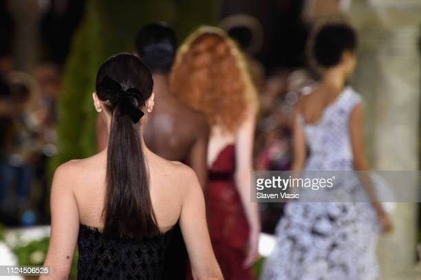 Models walk the runway at Oscar De La Renta during New York Fashion Week at the Cunard Building on February 12, 2019 in New York City.