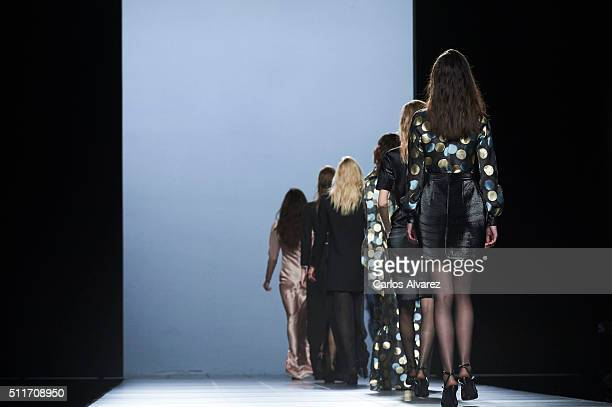 Models walk the runway at The 2nd Skin Co. Show during the Mercedes-Benz Madrid Fashion Week Autumn/Winter 2016/2017 at Ifema on February 22, 2016 in...