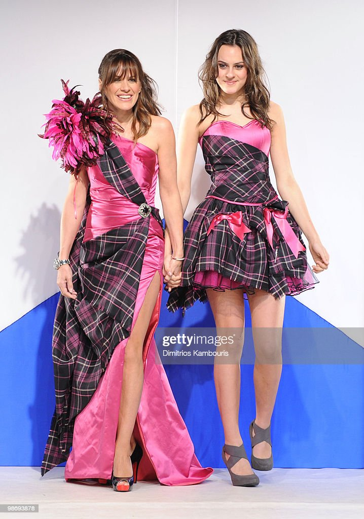 Models walk the runway at the 8th annual 'Dressed To Kilt' Charity Fashion Show at M2 Ultra Lounge on April 5, 2010 in New York City.