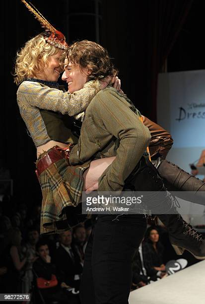 Models walk the runway at the 8th annual Dressed To Kilt Charity Fashion Show presented by Glenfiddich at M2 Ultra Lounge on April 5 2010 in New York...
