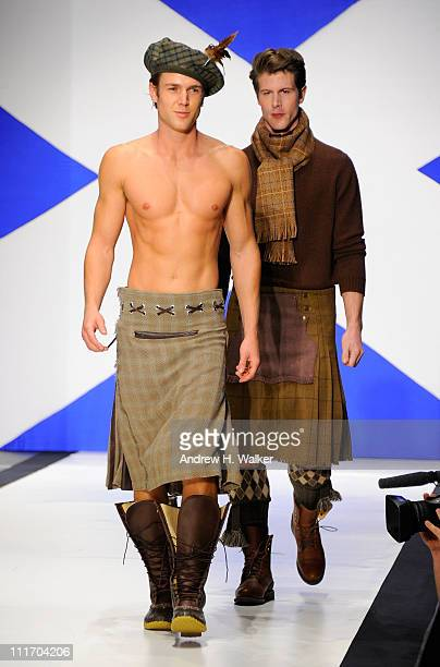 Models walk the runway at the 9th Annual Dressed To Kilt charity fashion show at Hammerstein Ballroom on April 5 2011 in New York City