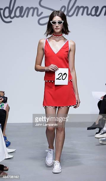 Models Walk the runway at the Adam Selman Presentation MercedesBenz Fashion Week Spring 2015 at Algus Greenspon Gallery on September 5 2014 in New...