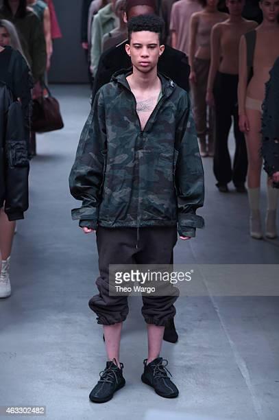 5ee2d254abb1a Models walk the runway at the adidas Originals x Kanye West YEEZY SEASON 1  fashion show