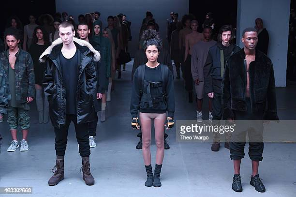 7391de0c1 Models walk the runway at the adidas Originals x Kanye West YEEZY SEASON 1  fashion show