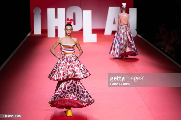 Models walk the runway at the Agatha Ruiz De La Prada fashion show during the Mercedes Benz Fashion Week Spring/Summer 2020 at Ifema on July 08 2019...