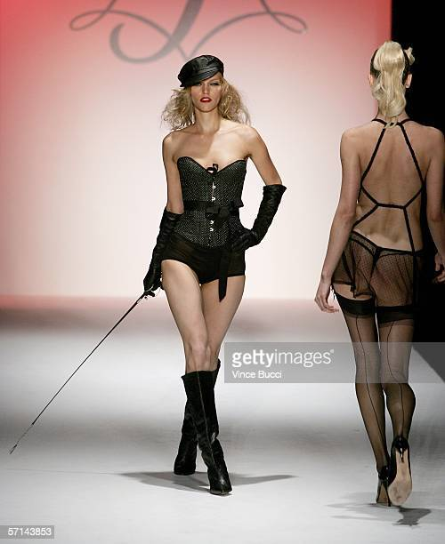 Models walk the runway at the Agent Provocateur Fall 2006 show during MercedesBenz Fashion Week at Smashbox Studios on March 20 2006 in Culver City...