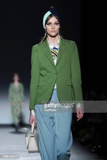 Models walk the runway at the Ailanto fashion show during the Mercedes Benz Fashion Week Autumn/Winter 20192020 at Ifema on January 26 2019 in Madrid...