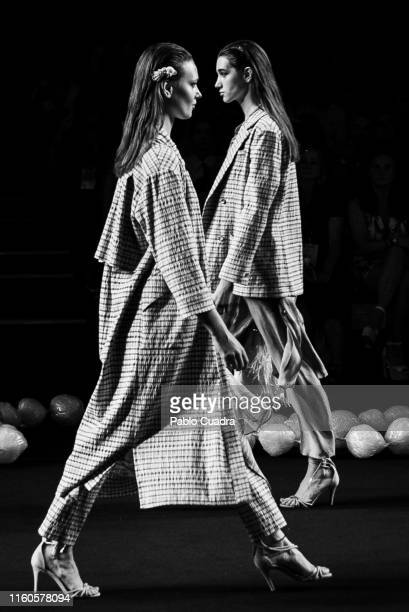 Models walk the runway at the Ailanto fashion show during the Mercedes Benz Fashion Week Autumn/Winter 2019-2020 at Ifema on July 07, 2019 in Madrid,...