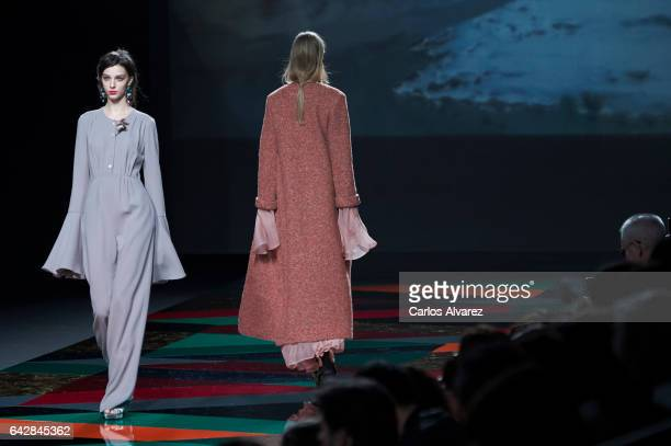 Models walk the runway at the Ailanto show during the MercedesBenz Madrid Fashion Week Autumn/Winter 2017/2018 at Ifema on February 19 2017 in Madrid...