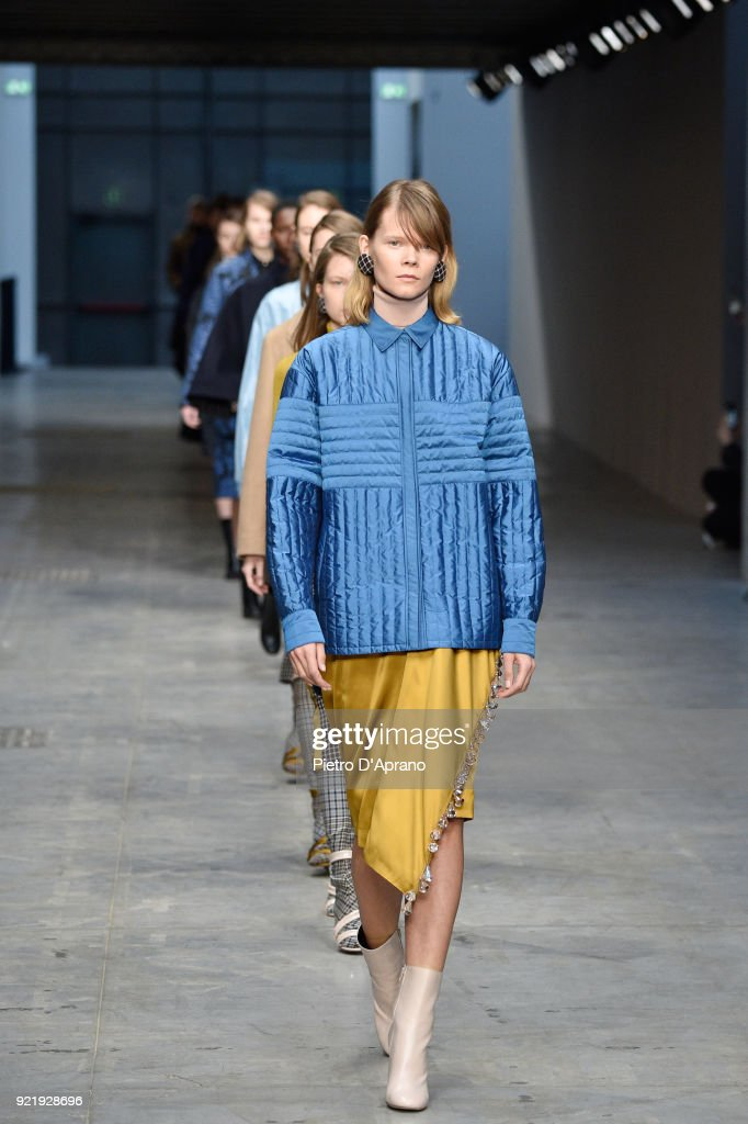 Albino Teodoro - Runway - Milan Fashion Week Fall/Winter 2018/19 : News Photo