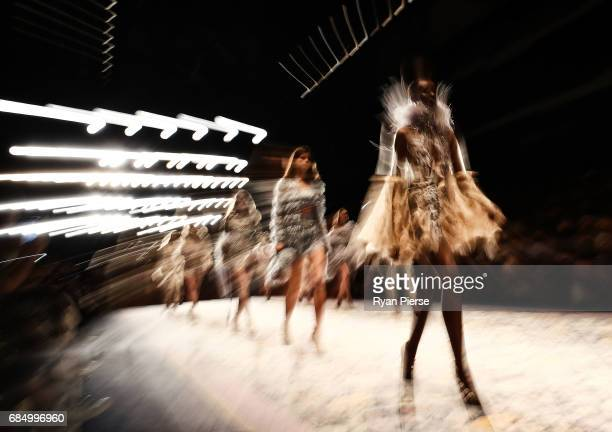 Models walk the runway at the Alice McCall show the during MercedesBenz Fashion Week Resort 18 Collections at Carriageworks on May 15 2017 in Sydney...