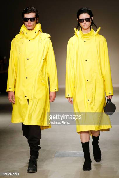Models walk the runway at the Angel Chen show during Milan Fashion Week Spring/Summer 2018 on September 20 2017 in Milan Italy