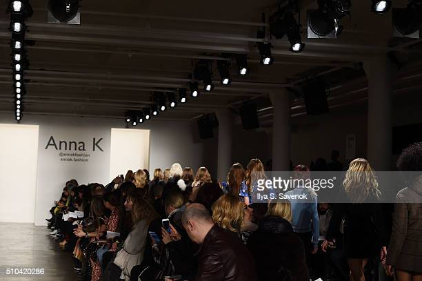 Models walk the runway at the Anna K fashion show during Fall 2016 MADE Fashion Week at Milk Studios on February 15 2016 in New York City
