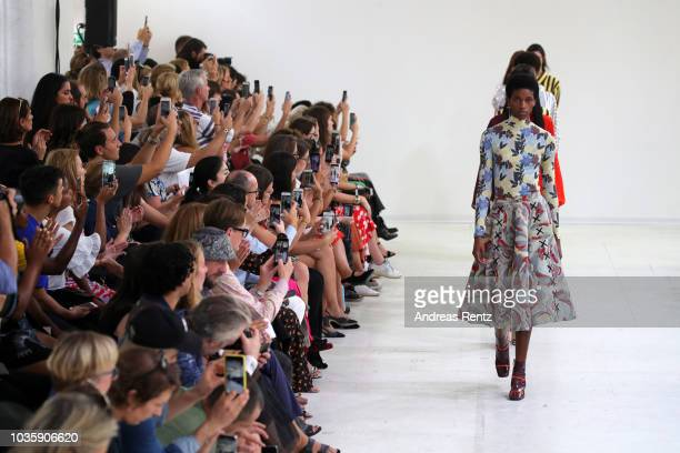 Models walk the runway at the Arthur Arbesser show during Milan Fashion Week Spring/Summer 2019 on September 19 2018 in Milan Italy