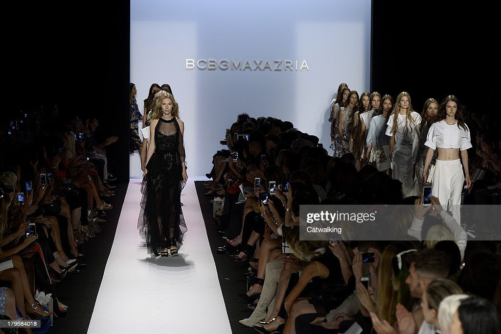 Models walk the runway at the BCBGMAXAZRIA Spring Summer 2014 fashion show during New York Fashion Week on September 5, 2013 in New York, United States.