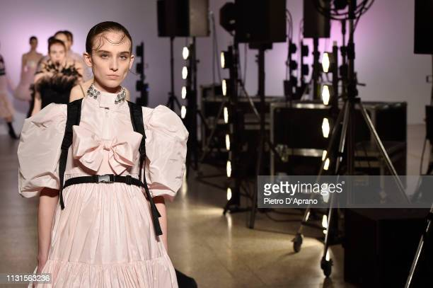 Models walk the runway at the Brognano show at Milan Fashion Week Autumn/Winter 2019/20 on February 23 2019 in Milan Italy