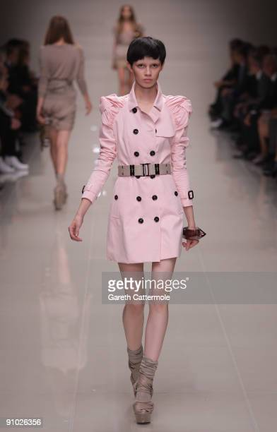 Models walk the runway at the Burberry Prorsum Spring/Summer 2010 Show at Rootstein Hopkins Parade Ground during London Fashion Week on September 22...