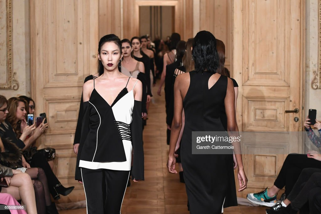 Models walk the runway at the Burce Bekrek show during Mercedes-Benz Istanbul Fashion Week March 2017 at Grand Pera on March 20, 2017 in Istanbul, Turkey.