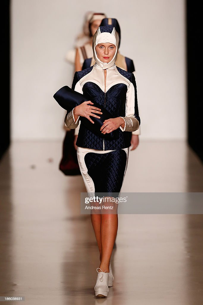 Models walk the runway at the Carmen Emanuela Popa show during Mercedes-Benz Fashion Week Russia S/S 2014on October 27, 2013 in Moscow, Russia.