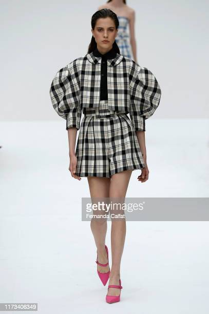 Models walk the runway at the Carolina Herrera show during New York Fashion Week at Garden of the Battery on September 9 2019 in New York City