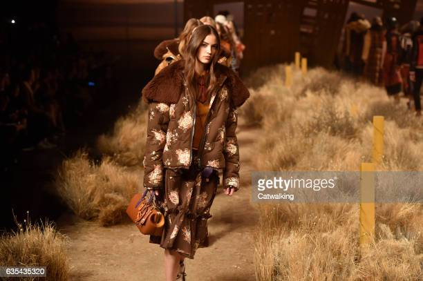 Models walk the runway at the Coach Autumn Winter 2017 fashion show during New York Fashion Week on February 14, 2017 in New York, United States.