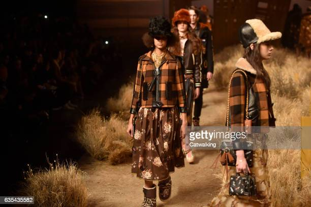 Models walk the runway at the Coach Autumn Winter 2017 fashion show during New York Fashion Week on February 14 2017 in New York United States