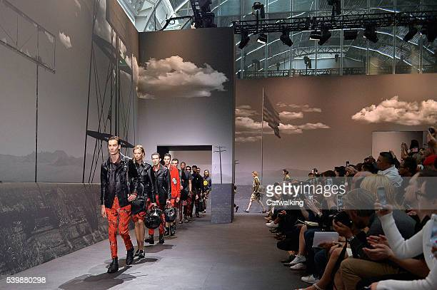 Models walk the runway at the Coach Spring Summer 2017 fashion show during London Menswear Fashion Week on June 13 2016 in London United Kingdom
