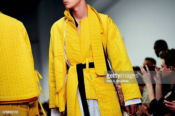 Models walk the runway at the Craig Green show during The London Collections Men SS16 at Victoria House on June 12 2015 in London England