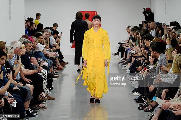 Models walk the runway at the Craig Green Spring Summer 2016 fashion show during London Menswear Fashion Week on June 12 2015 in London United Kingdom