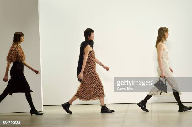 Models walk the runway at the Creatures of the Wind Autumn Winter 2017 fashion show during New York Fashion Week on February 11 2017 in New York...