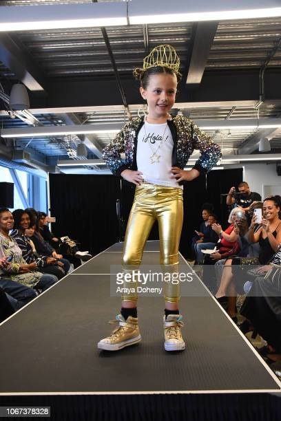 Models walk the runway at the Culture Friendship By Multiculti Corner Mixed Up Clothing Fashion Show on December 1 2018 in Marina del Rey California