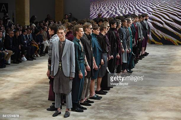 Models walk the runway at the Daks show during Milan Men's Fashion Week Spring/Summer 2017 on June 19 2016 in Milan Italy