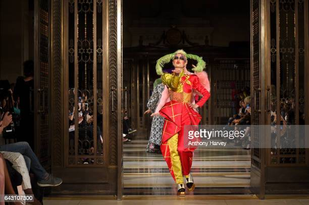 Models walk the runway at the David Ferreira show during the London Fashion Week February 2017 collections on February 20 2017 in London England